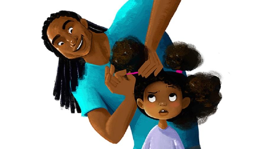 pentear o cabelo da filha