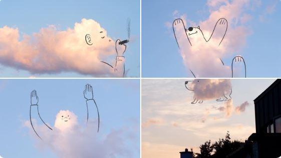 desenhos em nuvens