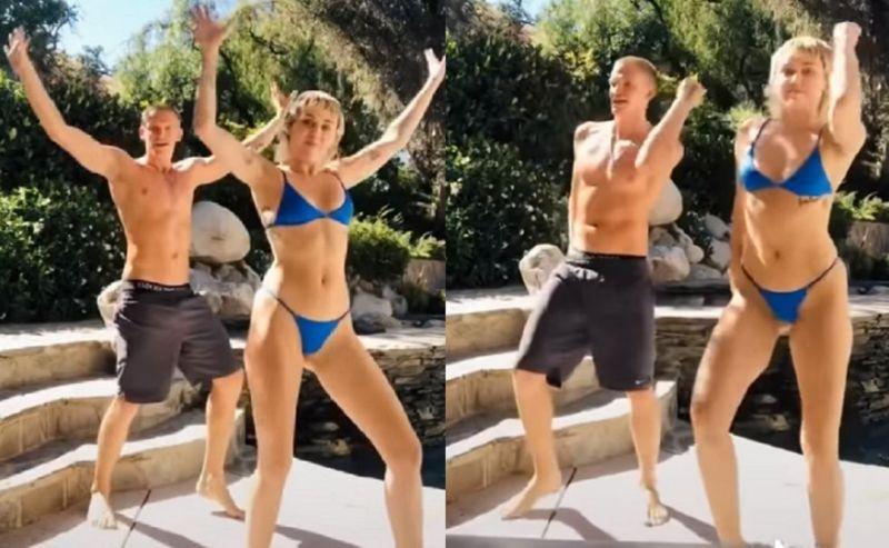 vídeo de Miley Cyrus dançando