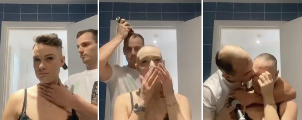 raspando a cabeça